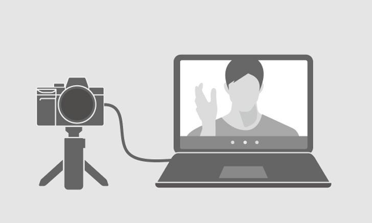 วิธีการใช้กล้องถ่ายภาพวิดีโอของ Sony เป็น Web cam ด้วยการเชื่อมต่อกับ composite video หรือ S-video.